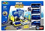 Toyshine Police Station Track Set with 4 Cars, Accessories