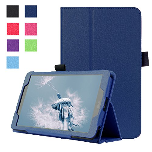 Forhouse Hülle LG G Pad 2 8.0 V498, PU Ledertasche Flip Magnet Etui Mit Standfunktion Ultra Schlanke stoßfest Schutzhülle für LG G Pad 2 8.0 V498 (Dark Blue)