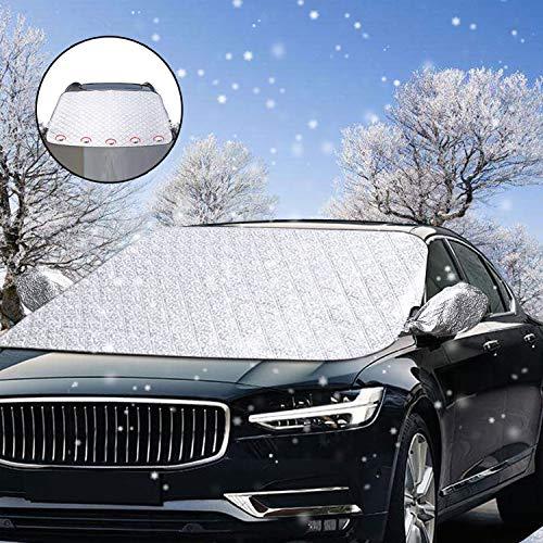 Frontscheibenabdeckung, solawill Windschutzscheibe Abdeckung Auto Scheibenabdeckung Magnet Fixierung Faltbare Frostabdeckung UV-Schutz Auto Abdeckung für Schnee, EIS, Frost, Staub, Sonne, UV-Strahlung