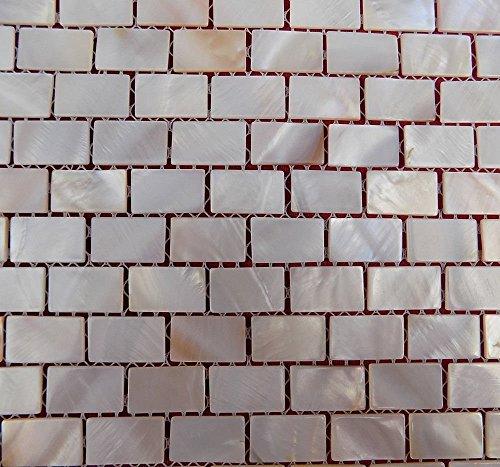 Perlmutt Mosaik Fliesen Fluss Bett natur Pearl Shell Mosaik Rectanguler Brick Nature Farbe tiles15* 25mm -