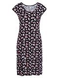 STEILMANN by Adler Mode Damen Jerseykleid in Wickeloptik - Sommerkleid, Coktailkleid, Businesskleid, Stoffkleid Schwarz/Pink/Rosa/Blau/Weiß/Gelb 40