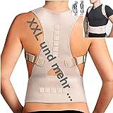 TOP & MARKE - XXL bis 3XL - Geradehalter zur Haltungskorrektur Rücken Rückenbandage Lendenwirbel Schulter Haltungstrainer Damen und Herren - mit 20% Baumwolle