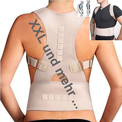 TOP & MARKE *Größe XXL bis 3XL* Rücken Rückenbandage Geradehalter zur Haltungskorrektur für Damen & Herren - orthopädisch mit 20{da9034248db437f32e8ef580333b5930a57cd1c1df2e0a63a5a18d48a5d085e6} Baumwolle & 12 Magneten