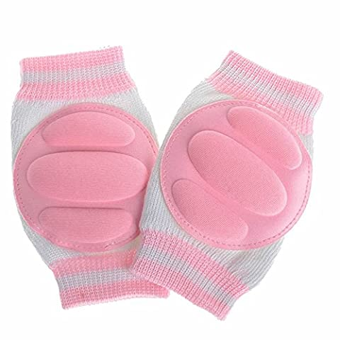GOOTRADES Breathable Infant Toddler Baby Elbow Knee Pads Crawling Safety Protector (Pink)