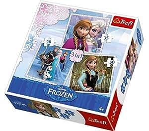 Disney Frozen 3 In 1 Jigsaw Puzzle Set - 20/36/50 Pieces