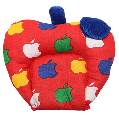 Gurukripa New Born Baby Cotton Soft Fabric Musterd Seeds Rai Pillow For Baby Head Shaping Apple U Shape Takiya Detachable Mustard / Rai Seed Pouch For Easy Washing Feeding & Nursing Baby Neck Pillow (Red)