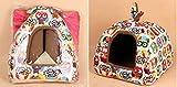 Komia Owl Kuschelhöhle für große Katzen und kleine Hunde geeignet Indoor Hundehaus Warmer Höhlenbett - 2
