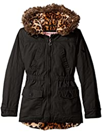 Urban Republic Girls' Cotton Twill Quilted Jacket