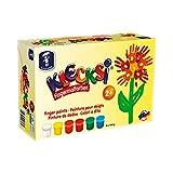 Feuchtmann Spielwaren 6330626 - Klecksi Fingermalfarbe Basic Maxi, 6 x 150 g