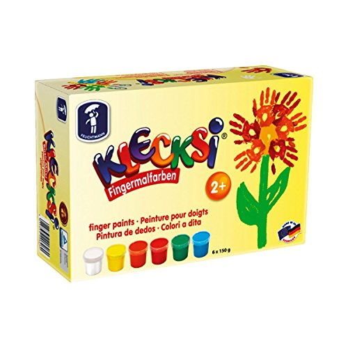 feuchtmann-spielwaren-6330626-klecksi-fingermalfarbe-basic-maxi-6-x-150-g