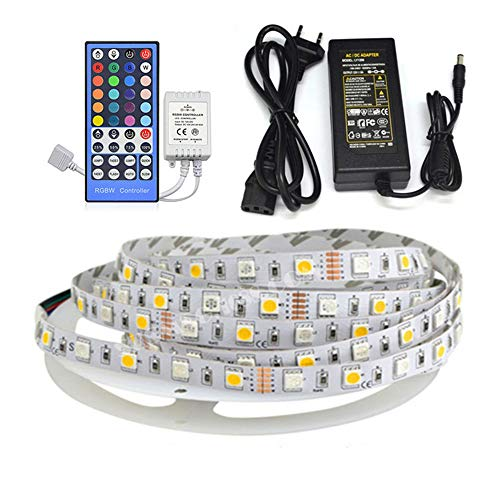 LED-Lichtstreifen, USB 12V LED-Lichtstreifen Whiteboard RGB + White Waterproof Epoxy Soft Strip 60 Light Blister Set