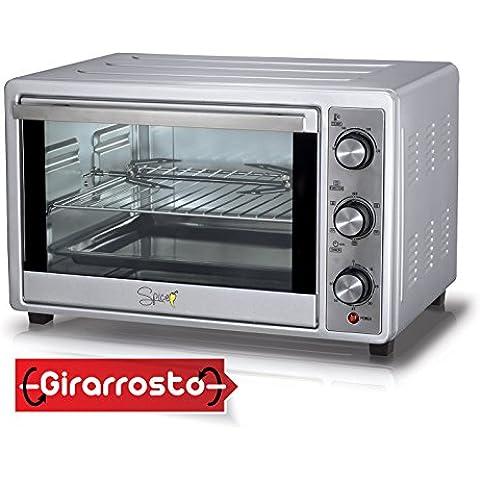 Spice - Cayenna 36 Litri Forno Elettrico Ventilato con Girarrosto Doppio Vetro 1500 W