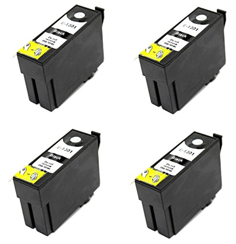 Prestige Cartridge T1301 Cartucce d'Inchiostro Compatibile per Stampanti Epson Workforce Serie, 4 Pezzi, Nero