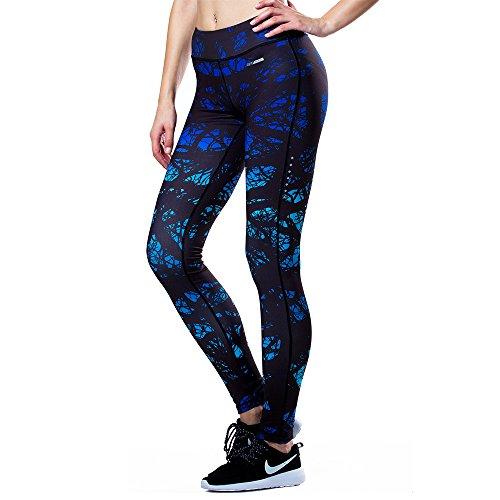 Souke Sports pantaloni da donna da corsa, allenamento, fitness, palestra, elasticizzati, aderenti, con tasca nella cintura CPL1511-02