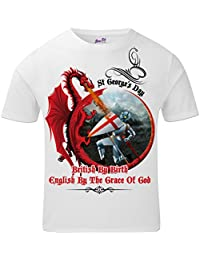 Bang Tidy Clothing St Georges Day T Shirts Mens British by Birth St George T Shirt Patriotic English All Over Print Graphic Tees