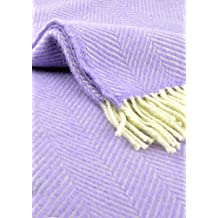 Couverture en laine Lilas/arête de poisson