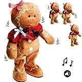 alles-meine.de GmbH XL - singende & tanzende -  Pfefferkuchenfrau / Lebkuchen - I Wish You a Merry Christmas  - Plüschtier mit Sound & Bewegung - 35 cm - aus Stoff / Plüsch - W..