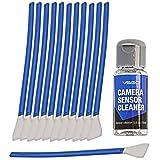 """VSGO Kamera Sensor Reinigungs Kit, 6 bis 12 Sensor Reinigungen möglich, 12x Reinigungs Swab 12mm breit """"staubfrei, vakuumverpackt"""" 15ml Sensorreiniger"""