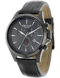 Sector Herren-Armbanduhr 290 Chronograph Quarz Leder R3271690002