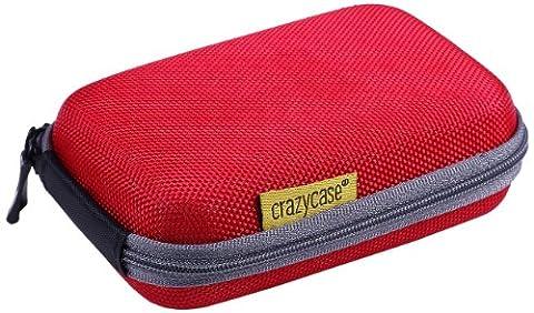 CrazyCase® Kameratasche Hardcase in Gelb Canon Powershot SX610 HS, D30, S200 / Canon IXUS 265 HS, 170, 165 / Nikon Coolpix S7000, AW130, L31, S2900, S3700 / Panasonic Lumix DMC-FT30, DMC-SZ10, DMC-SZ8, DMC-XS3 / Sony CyberShot DSC-WX350, DSC-WX220, DSC-W830, DSC-W810 - ! NICHT passend für Nikon Coolpix S33 !