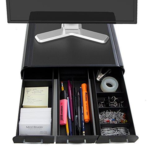 Mind Reader 'Perch' PC laptop supporto iMac monitor e organizer da scrivania