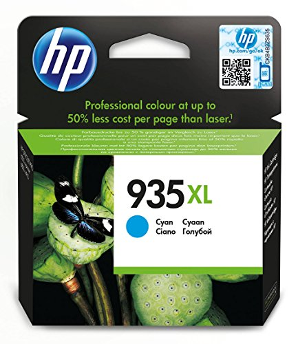 HP 935XL - Cartucho de tinta Original HP 935 XL de álta capacidad Cian para HP OfficeJet Pro 6230, 6830