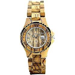 Frauen Quarz Holz Armbanduhr