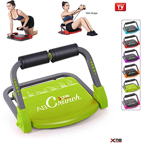 Xn8 ABS Core Smart Body Máquina de ejercicio fitness Trainer AB toning entrenamiento gimnasio hogar equipo, lime green