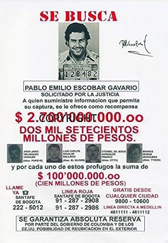 Édition limitée Pablo Escobar Photo dédicacée par