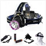 XCSOURCE 1800LM CREE T6 LED Stirnlampe Fahrad Front Motorrad Lampe Scheinwerfer Scheinwerfer Camping Hiking Licht + Akku18650 Wiederaufladbare Batterie + Autoladegerät LD361