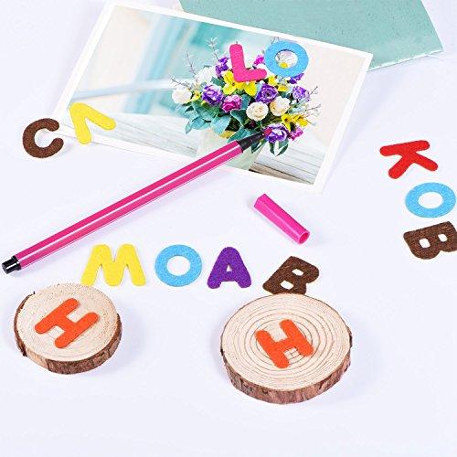1 Zoll Filz Buchstabe Aufkleber Selbstklebende Buchstaben Aufkleber für DIY Handwerk Dekoration, Verschiedene Farben, 500 Stück