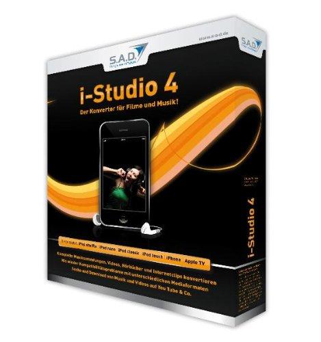 I-Studio 4, CD-ROM in EuroboxDer Konverter für Filme und Musik!. Unterstützt: iPod shuffle; iPod nano; iPod classic; iPod touch; iPhone; Apple TV Ipod Tv Konverter