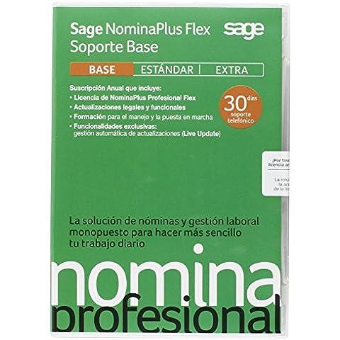 Sage NominaPlus Profesional Flex Soporte Base 2015 - Software De Nóminas Y Gestión Laboral, Suscripción 1 Año