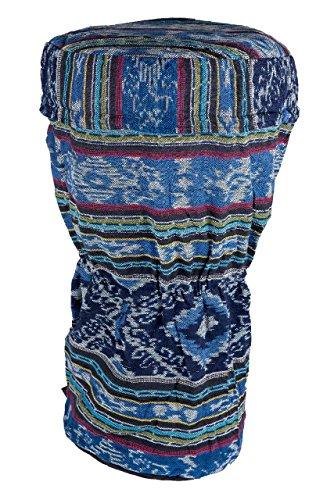 Ciffre Große 60cm x 30cm Djembe Trommel Tasche Batik Handarbeit Bongo Reisverschluss L1