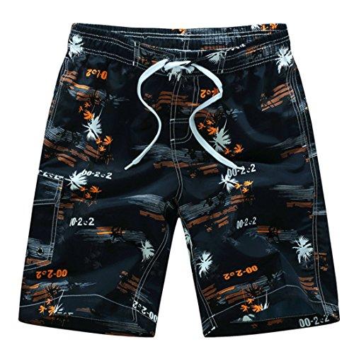 Men's Printing Beach Shorts Chocolat