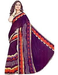 The Wardrobe Women's Georgette Saree(Wardrobe006_Multi-Coloured_Free Size)
