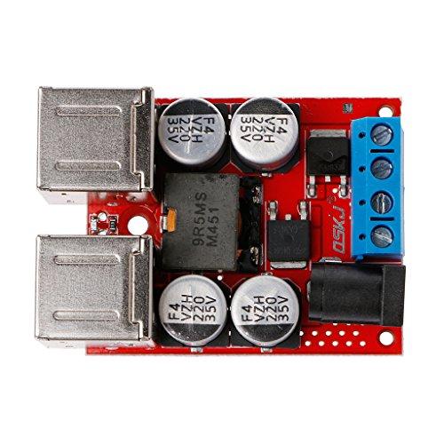 JENOR DC-DC Fahrzeug Lademodul 8 V-35 V zu 5 V 8A 4 Port USB Ausgang Mobiles Ladegerät