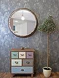 Spiegel rund ø 83 cm, Metallrahmen mit Patina, Industrial Style