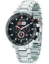 Sector Herren-Armbanduhr 850 Chronograph Quarz Edelstahl R3273975003