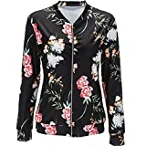 OverDose Women Vintage Floral Zipper Blazer Jacket Coat Outwear
