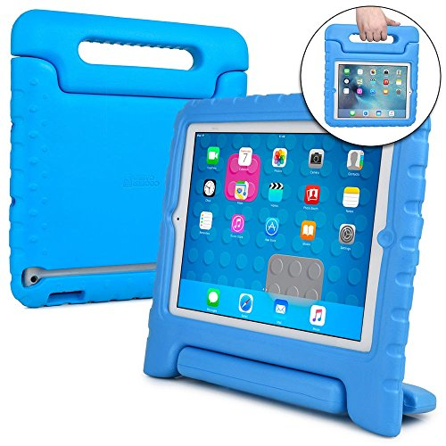 Cooper Cases(TM Dynamo iPad 2/3/4 Kids Case in Blue + Free Screen Protector (Lightweight, Shock-Absorbing, Child-Safe Eva Foam, Built-in Handle and Viewing Stand)