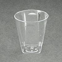 Cancella quadrato di plastica usa e getta bicchierini 56ml/56,7gram–feste e matrimoni, 960pezzi