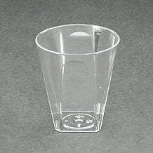 Vasos de chupito de plástico desechables cuadrado 56 ml/2 oz - fiestas o boda