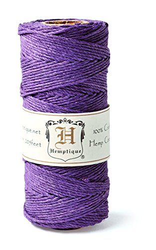 Hemp Cord Spool 20# 205'/Pkg-Dark Purple -