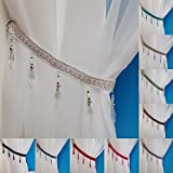 Crystal Beaded Curtain Tie Back (White)