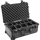 Peli 1510 Carry On Koffer mit Einteiler schwarz