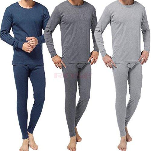 Socks Uwear Ensemble de sous-vêtements thermiques avec haut à manches longues et caleçon long pour homme -  Gris - L