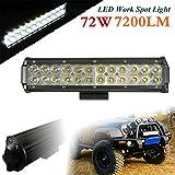 Audew LED Arbeitsscheinwerfer Auto Arbeitsleuchte Arbeitslicht 12 Inch 72W LED Work Light Flutlicht Zusatzscheinwerfer