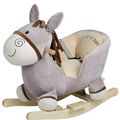 BabyGo Rocker Schaukeltier Esel - Schaukelesel Donkey ab 6 Monaten