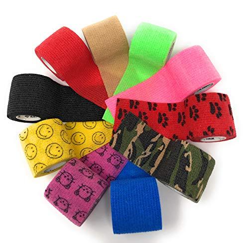 LisaCare Fixierbinde 5cm x 4,5m | 10er-Set mit Motiven u. UNT. Farben | Kohäsive Bandage | Wundverband | Pflasterverband | elastisch, dehnbar, selbsthaftend, ohne Kleber